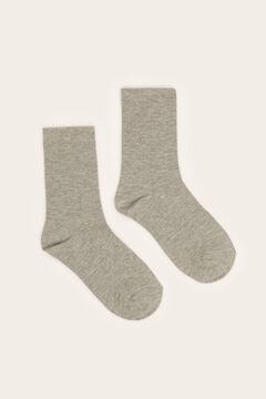 Womensecret Printed ankle socks grey