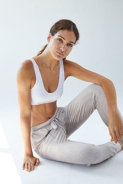 Womensecret Sand velour trousers nude