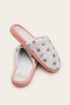 Womensecret Grey Elmo bathroom slippers rose