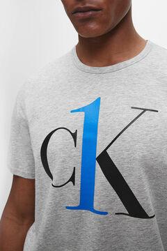 Womensecret Cotton short-sleeved T-shirt with Calvin Klein logo on chest grey