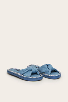 Womensecret Knot slippers blue