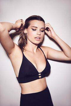 Womensecret Triangle bra with crystal details black