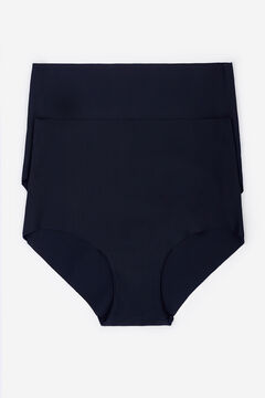 Womensecret 2 Culotte taille haute noir