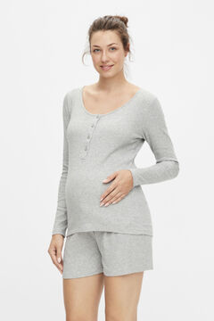 Womensecret Organic cotton maternity pyjama set  grey