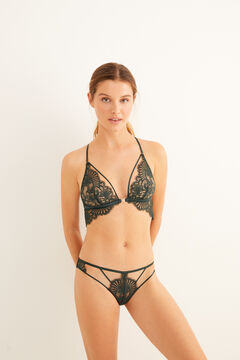 Womensecret Green lace triangle bra green