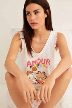 Womensecret Short Garfield pyjamas white