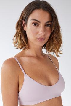 Womensecret NATURAL lilac triangle bra pink