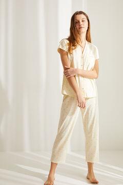 Womensecret Yellow cotton Tigger classic capri pyjamas printed