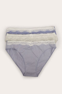 Womensecret 3-pack classic cotton panties blue