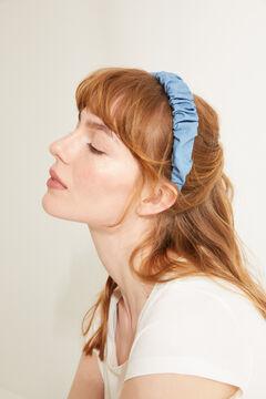 Womensecret Diadema denim efecto arrugado azul