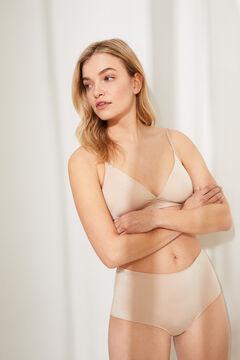 Womensecret Wireless triangular bra nude