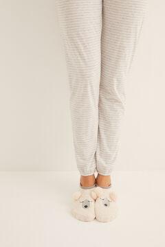 Womensecret Invisible non-slip cosy teddy bear socks white