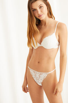 Womensecret GORGEOUS Sujetador push up encaje blanco blanco
