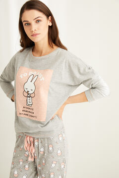 Womensecret Long cotton Miffy pyjamas  grey