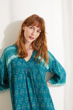 Womensecret Green boho print camisole green