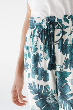 Womensecret Long tropical trousers green