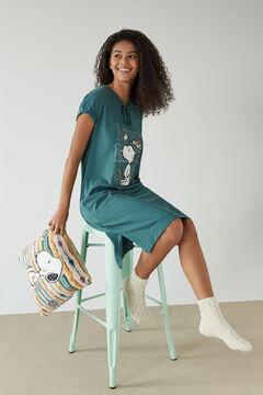 Womensecret 100% cotton green midi nightgown green