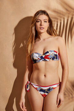 Womensecret Top bikini bandeau estampado marinero estampado