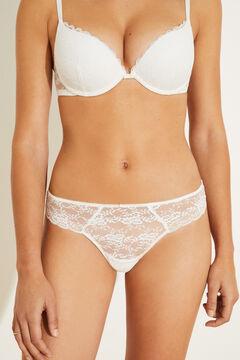 Womensecret White lace tanga white