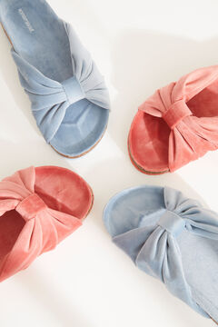 Womensecret Red knot-front mule slippers pink