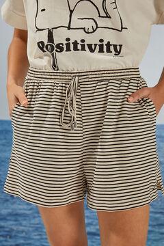 Womensecret Pantalon court rayures imprimé