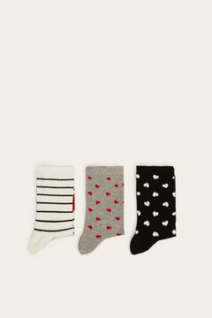 Womensecret 3-pack of printed socks white