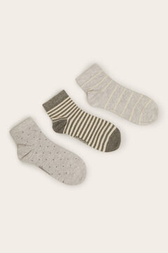 Womensecret Pack of 3 Short socks grey