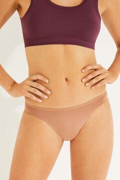 Womensecret 7-pack earthy tone cotton Brazilian panties printed