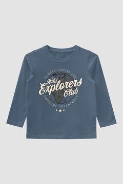 Womensecret T-shirt estampada criança azul