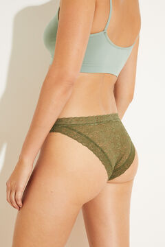 Womensecret Classic green lace panty green