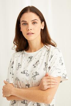 Womensecret Camisón midi estampado Snoopy  gris