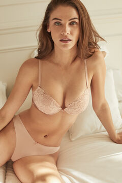 Womensecret BEAUTIFUL Classic pink lace padded bra pink