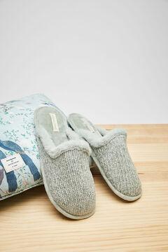 Womensecret Blue velour slippers blue