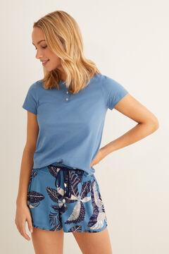Womensecret Printed pyjama shorts blue