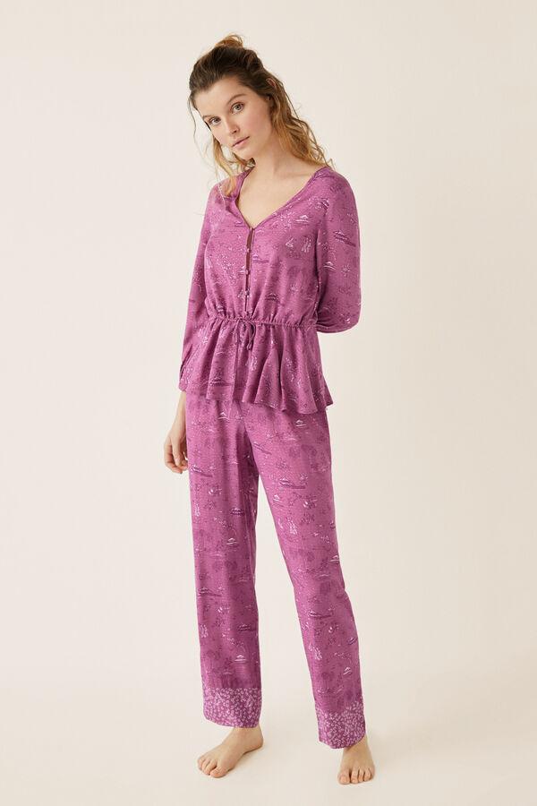 f258bc8297 Classic Eastern capri pyjamas. €34.99 €23.99. Womensecret Pijama largo  estampado oriental beige
