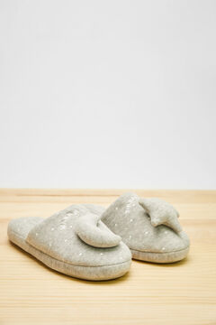 Womensecret Grey 3D moon and star slippers grey