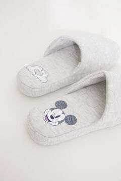Womensecret Grey Mickey Mouse slider slippers grey