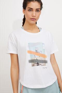 Womensecret Camiseta algodón blanco