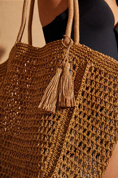 Womensecret Natural beach bag yellow