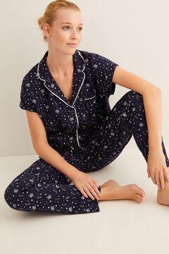 Womensecret Kurzarmhemd-Pyjama mit Harry Potter-Print Blau