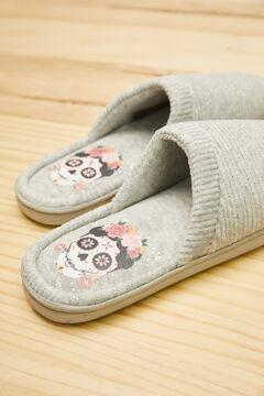 Womensecret Coco grey slider slippers grey