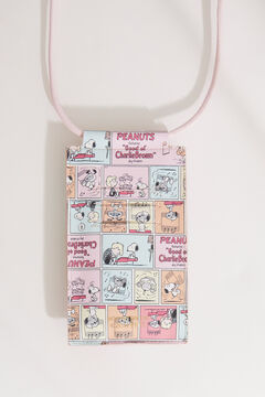 Womensecret Snoopy phone case and cord pink