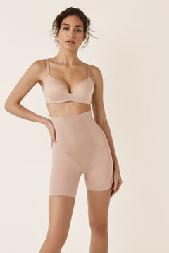 Womensecret Pantalón shape moldeador de tul nude