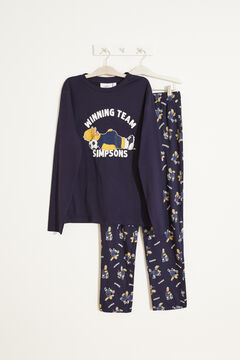 Womensecret Pijama largo Homer algodón azul