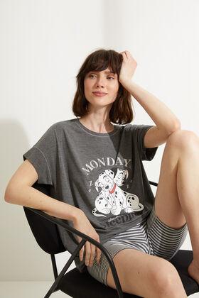 Womensecret Pyjama court coton 101 Dalmatiens cycliste gris