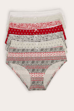 Womensecret 7-pack cotton boyshort panties printed