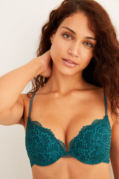Womensecret Green lace push-up bra green