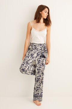 Womensecret Long printed pyjama bottoms blue