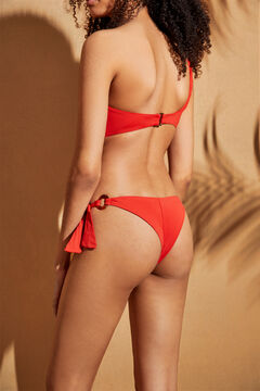 Womensecret Red Brazilian bikini bottoms with ties red