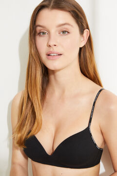 Womensecret Organic cotton triangle bra black